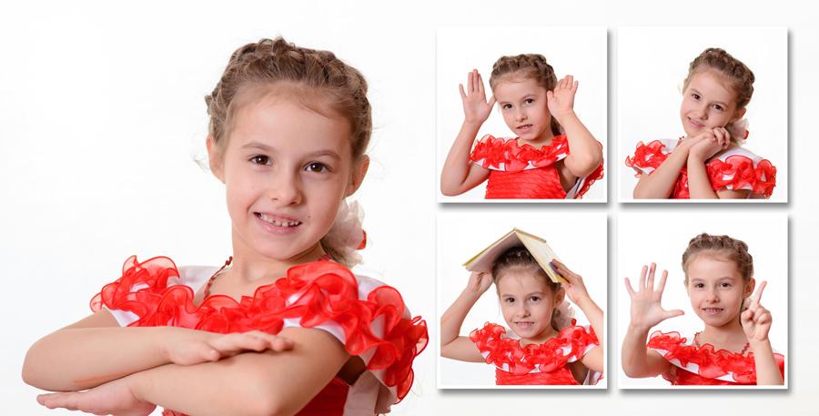 Первый разворот фотокниги выпускника детского сада