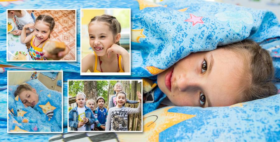 Четвертый разворот фотокниги выпускника детского сада