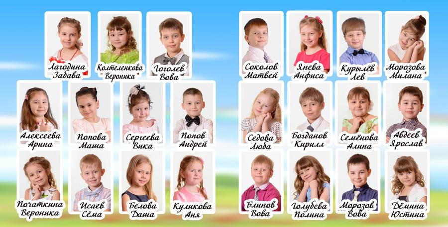 Пятый разворот фотокниги выпускника детского сада