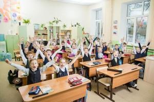 необычная общая фотография школьников в классе
